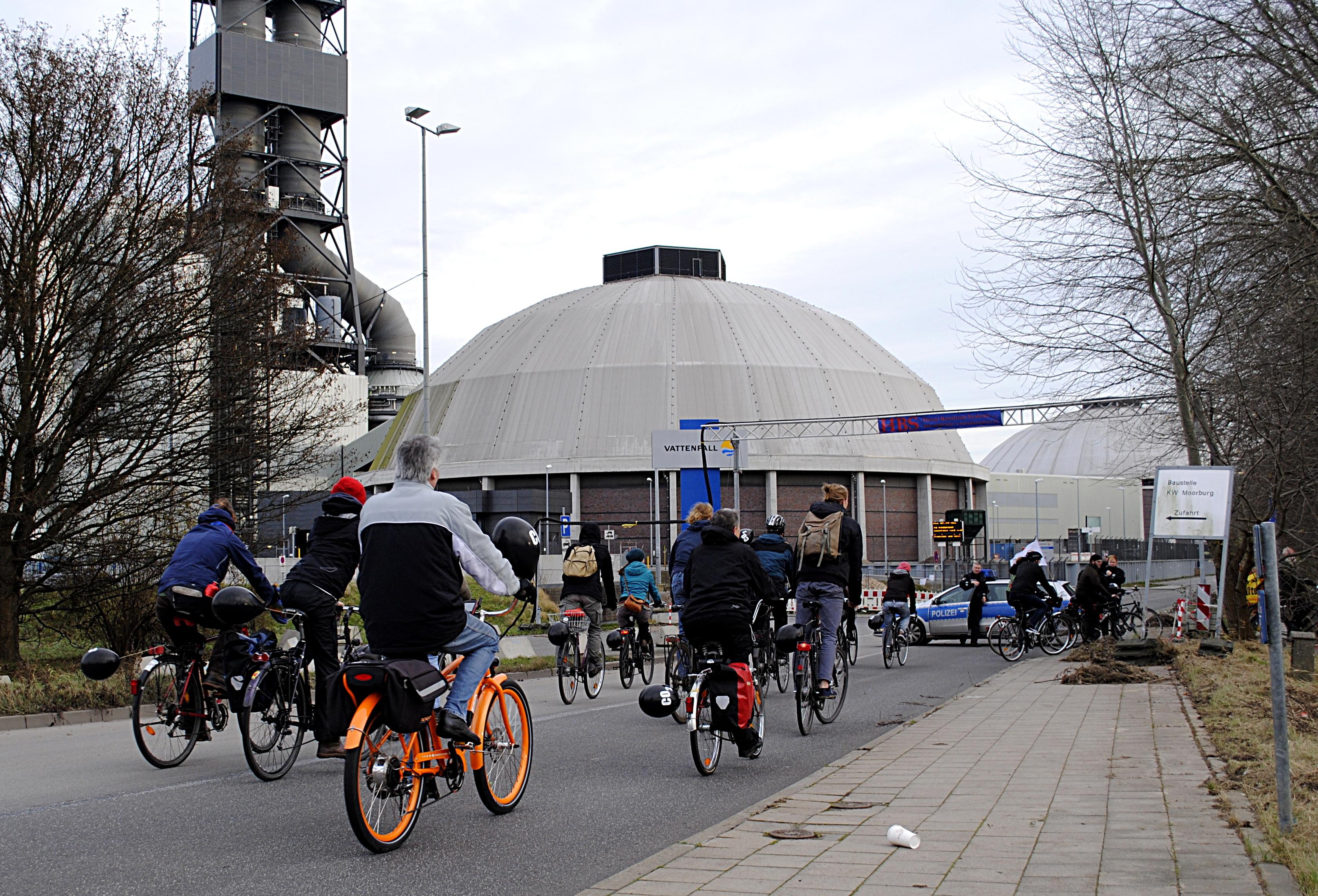 Ankunft bei der CO2-Schleuder in Moorburg